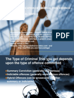 Classification of Criminal Offences
