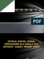Optical Digital Signal Processing ppt