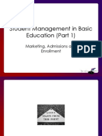 Ed215 Marketing, Admissions and Enrollment