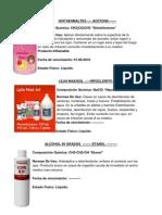 Trabajo de ciencias Químicos del Hogar Salvadoreño