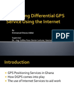 Proposal Defence- Developing a Differential GPS Service in Ghana Using the Internet/Web