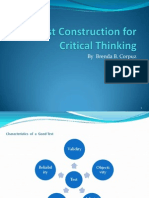 Test Construction for Critical Thinkin
