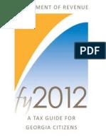 Georgia Dept of Revenue 2012 Tax Guide