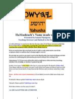 HaMashiachs Name is Yahusha