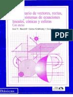 Problemario de Vectores, Rectas, Planos, Sistemas de Ecuaciones Lineales, Conicas y Esferas Con Anexo