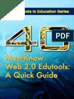 40 Must-know Web 2.0 Edutools