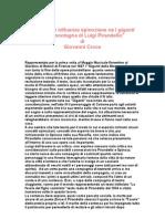 Note sulle influenze spinoziane neI giganti della montagnadi Luigi Pirandello