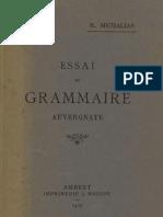 Eléments abrégés de grammaire auvergnate