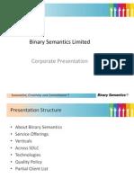 Binary Semantics Limited Corporate Overview