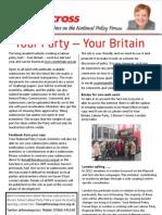 National Policy Forum Newsletter - Fiona Twycross - January 2013