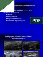 Echographie cervicale en pédiatrie
