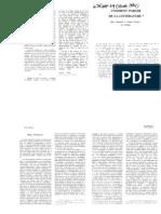 Gerard Genette et Marc Fumaroli - Comment Parler de la litterature