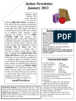Kitchen Newsletter January 2013
