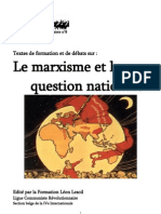 Les marxistes révolutionnaires et la question nationale