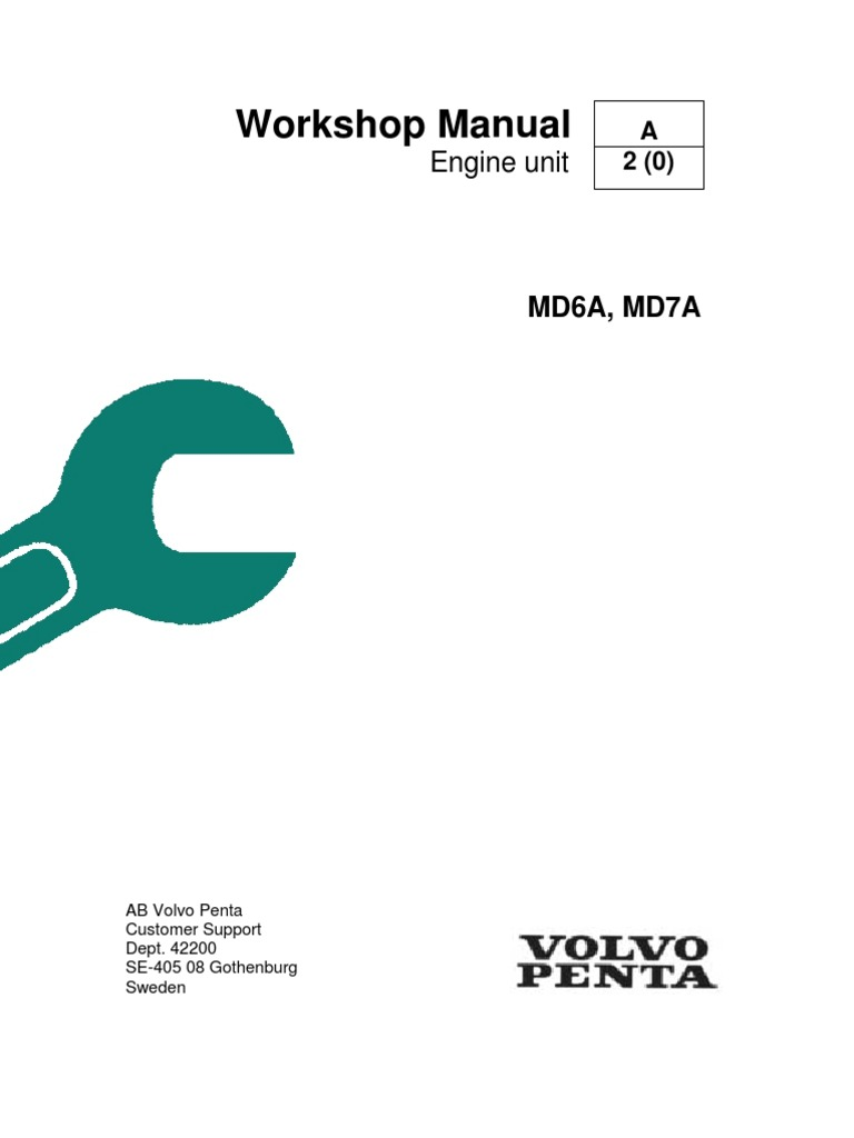 volvo penta md6a md7a workshop manual piston fuel injection rh scribd com volvo penta repair manual online volvo penta repair manual download