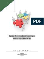 O papel da Formação de Coaching no mundo das Organizações