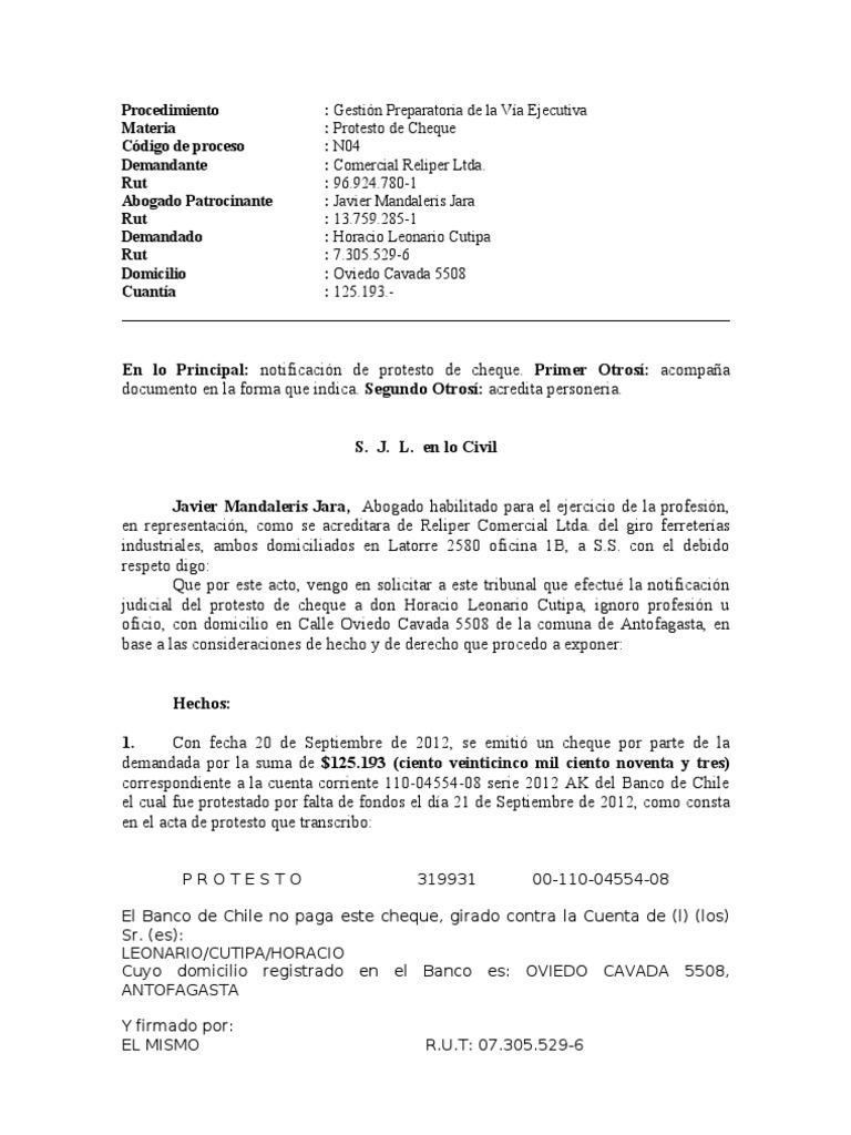 Protesto de cheques reliper formato for Oficina xestion de multas concello de santiago