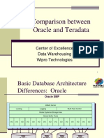 teradata oracle comparision