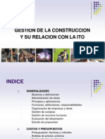 Gestion de La Construccion y Su Relacion Con La ITO ISM