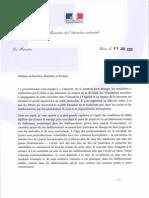 Lettre de Vincent Peillon aux recteurs.