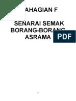 Contoh Borang Asrama