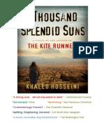 Novel Report, A Thousand Splendid Suns (Autosaved)