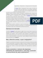 Estrutura de Mercado Oligopolizada SETOR AUTOMOTIVO