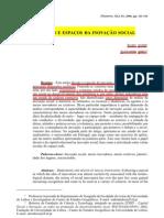 ANDRÉ e ABREU (2006) - Dimensões e Espaços da Inovação Social