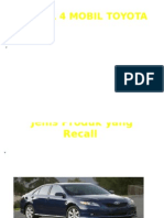 Recall 4 Mobil Toyota