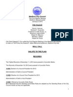 Council Agenda January 8, 2013