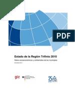 Estado de la Región Trifinio 2010 Datos socioeconómicos y ambientales de los municipios