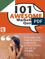 101 marketing quotes