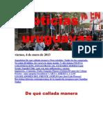 Noticias Uruguayas viernes 4 de enero del 201