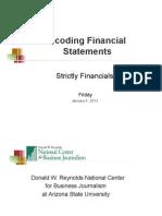 Decoding Financial Statements