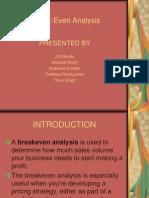 break even analysis jK