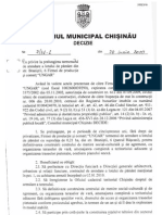 Actele privind constructia in parcul Riscani, str. Branistii 6