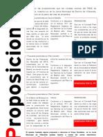Proposiciones diciembre 2012