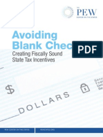 Pew Tax Incentives Report