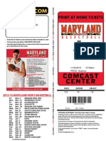 Maryland Basketball Ticket