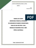 Manual de Campo- Inventario Forestal Integrado en Unidades de Manejo Comunitario