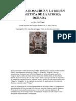 ALQUIMIA ROSACRUZ Y LA ORDEN HERMÉTICA DE LA AURORA DORADA