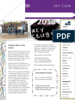 January Key Club NewsLetter