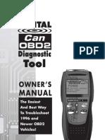 Digital Can OBD2 Diagnostic Tool 3100 Manual