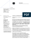 Carta de parlamentaria alemana al Ministro del Interior de Chile