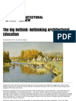 The Big Rethink - Re-thinking architectural education