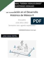 La Educación en el Desarrollo Histórico de México ENCUADRE