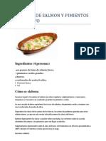 Cazuela de Salmon y Pimientos Con Huevo