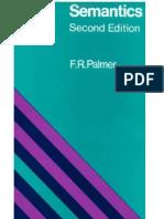 Palmer, f.r. - Semantics-A New Outline