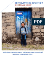 Andean Alliance for Sustainable Development 2012 Annual Report to Donors