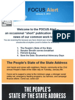 FOCUS Alert - January 4, 2013